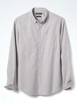 Banana Republic Camden-Fit Cotton-Stretch Gingham Oxford Shirt