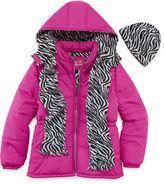 Pink Platinum Girls Heavyweight Puffer Jacket-Big Kid