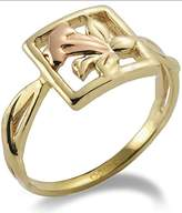Clogau Gold 9ct Yellow and Rose Gold St Davids Daffodil Ring - Size N