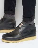 Original Penguin Chukka Boots In Black Leather