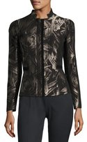 Lafayette 148 New York Belle Spark-Print Stretch-Wool Jacket, Multi, Plus Size