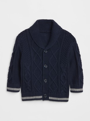 Gap Baby Cable-Knit Shawl Cardi Sweater