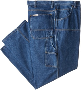 Key Apparel Men's Big-Tall Relaxed Fit Contractor Grade Double Front Denim Dungaree