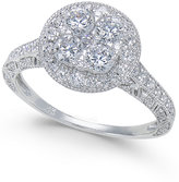 Macy's Diamond Composite Engagement Ring (1-1/4 ct. t.w.) in 14k White Gold