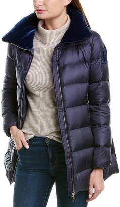 Moncler Torcon Silk-Blend Medium Down Coat