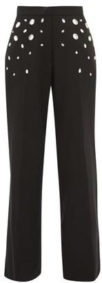 Christopher Kane Crystal Wide-leg Trousers - Black