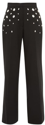 Christopher Kane Crystal Wide-leg Trousers - Womens - Black