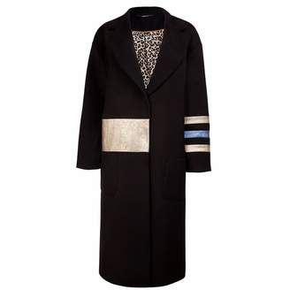 Vols & Original Cashmere & Leather Oversized Coat Gold Dust