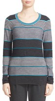 St. John Women's Stripe Wool Blend Sweater