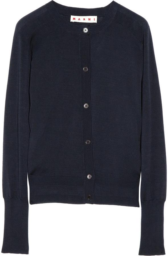 Marni Fine-knit cotton cardigan