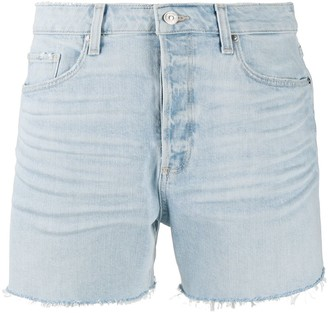 Paige Frayed Hem Denim Shorts