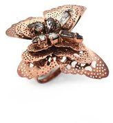 Erickson Beamon Splendor In The Rose Swarovski Crystal Ring