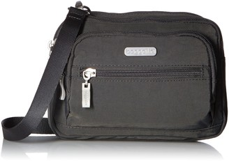 Baggallini Triple Zip Crossbody Travel Bag