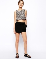 Asos Skort with Fold Front Detail