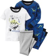 Carter's 4 Piece PJ Set (Baby) - Dino-12 Months