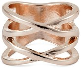 Women's Set of 2 X-shaped Rings - Rose Gold