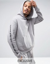 Puma Boxy Logo Hoodie in Gray Exclusive to ASOS