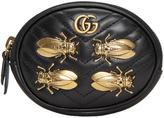Gucci Black Gg Marmont 2.0 Animal Studs Wrist Pouch