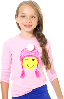 LittleMissMatched Pink Winking Smiley Face Tee