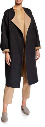 Eileen Fisher Reversible Double Face Long Coat