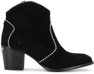 Zadig & Voltaire Stud-Embellished Western Ankle Boots
