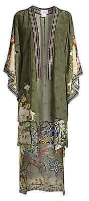 Camilla Women's Floral Silk Kimono