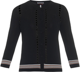 Rochas Logo-patch lightweight-knit cardigan