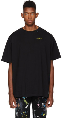 Off-White Black and Yellow Painted Arrows T-Shirt