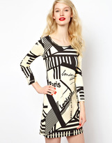 Sonia Rykiel Sonia By Graphic Print Jersey Dress