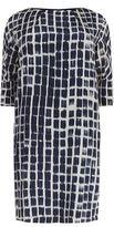 Marina Rinaldi Printed Silk Shift Dress