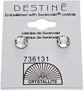 Crystallite Crystal Crown Earring