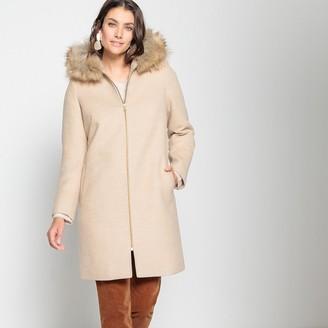 Anne Weyburn Faux Fur Hooded Coat