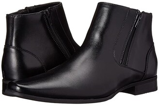 Calvin Klein Beck (Black Leather) Men's Zip Boots