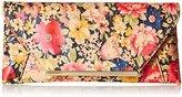 La Regale Floral Cork Envelope Clutch
