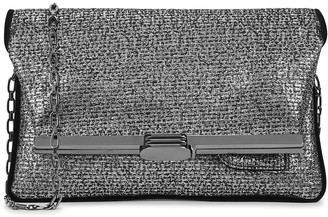 BIENEN-DAVIS Gunmetal lame clutch