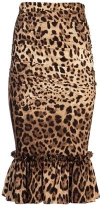Dolce & Gabbana Animal Print Pencil Skirt