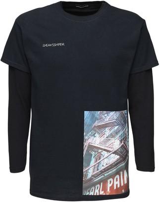 Printed Cotton Long Sleeve T-Shirt
