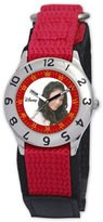 Disney Kids' D795S505 Camp Rock Anna Time Teacher Red Velcro Strap Watch