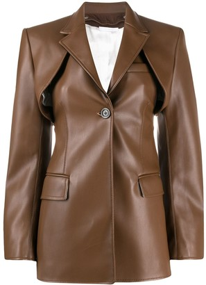 Peter Do two piece leather look jacket