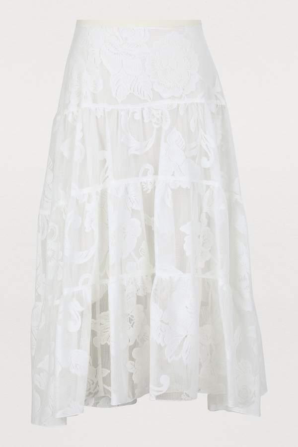 b059e18104 Lace Midi Skirt - ShopStyle