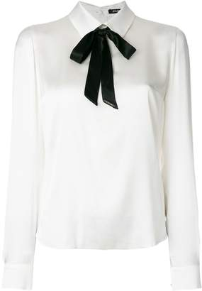 Styland pussy-bow long sleeve blouse
