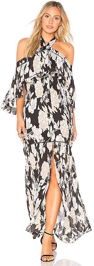 Elliatt Impressionist Cold Shoulder Dress