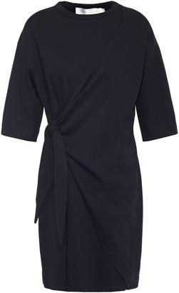 Victoria Victoria Beckham Wrap-effect Ponte Mini Dress