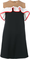 MSGM knitted panel shift dress - women - Cotton/Polyamide/Polyester/Spandex/Elastane - 38