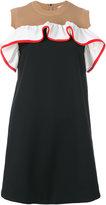 MSGM knitted panel shift dress - women - Cotton/Polyamide/Polyester/Spandex/Elastane - 40