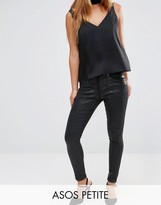 Asos Sculpt Me Premium Jeans in Black Coated