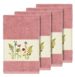 Linum Home Turkish Cotton Serenity 4-Pc. Embellished Hand Towel Set Bedding