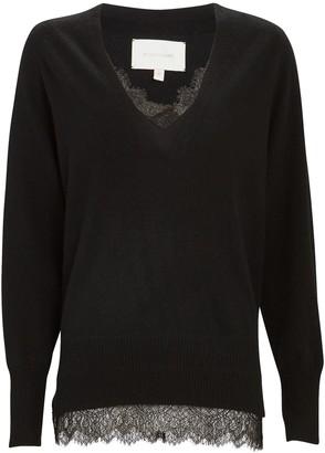 Brochu Walker Looker Lace-Trimmed Sweater