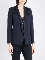 The Kooples Embroidered twill blazer