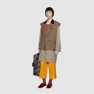 Gucci Houndstooth sleeveless jacket